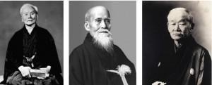 Three of the founders of modern budō (karate, aikidō , jūdō)